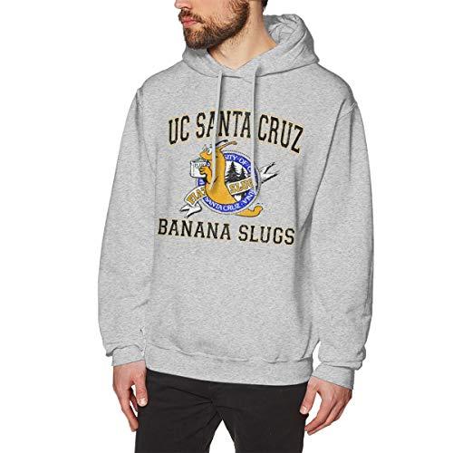 Casy Teey UC Santa Cruz Banana Slugs Men's Hoodie Sweatshirt Gray XXL