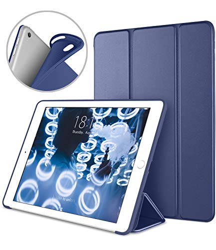 iPad Pro 10.5 Soft Back Case, DTTO Ultra Slim [Anti-Scratch] Lightweight Smart Case Trifold Cover Stand with Flexible Soft TPU Back Cover for iPad Pro 10.5 inch [Auto Sleep/Wake],Navy Blue