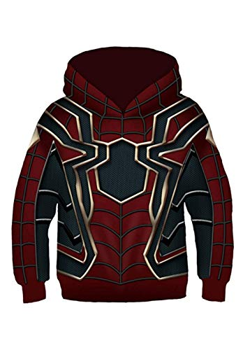 (CHECKIN Unisex Toddler Kids Spider Verse Gwen Pullover Hoodies Jacket Sweatshirt Costume 4-12 Years Old (M(8T-11T/ Fit for Height 125-145cm),)