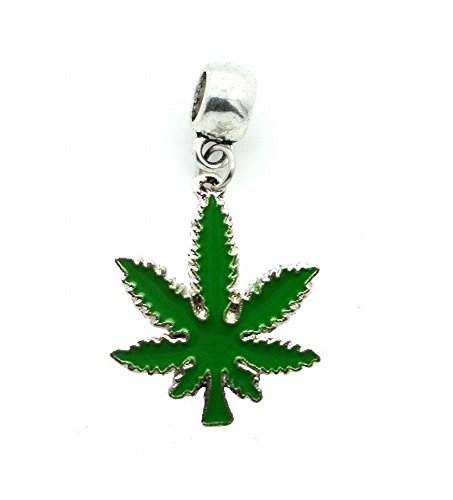 Pendant Sliders Green - POT LEAF WEED CANNABIS MARIJUANA KUSH CHARM SLIDER PENDANT ADD TO NECKLACE, CLOTHING ACCESSORIES, PET COLLAR, KEYCHAIN, ETC.