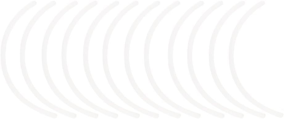 Phenovo 6 Pares Sujetador Plástico Blanco Debajo Alambres Con Aro De Reemplazo - Blanco, 22.5CM