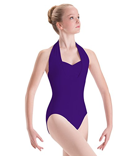 Motionwear Overlay Halter Leotard, Ultraviolet, Small (Supplex Camisole)