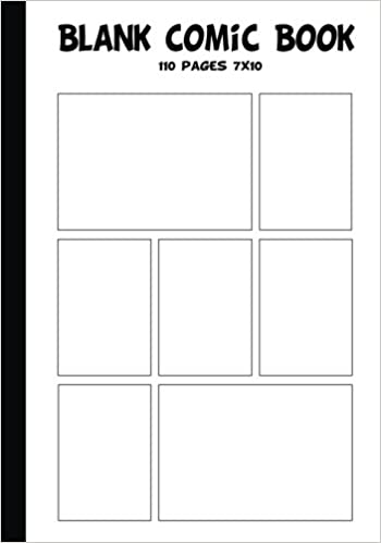 Blank Comic Strip  Blank Comic Book   X With  Panel  Pages