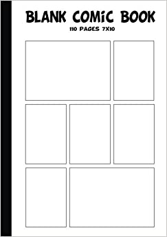 Blank Comic Strip : Blank Comic Book   7 X10 With 7 Panel , 110 Pages, Make  Your Own Comics With This Comic Book Drawing Paper, Comic Book Template  Vol.2: ...