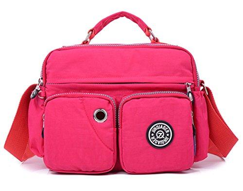 Tiny Chou leggera, impermeabile, con manico in Nylon compatto, borsa a tracolla, con tasche Rose