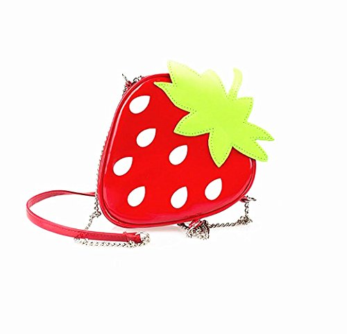 Strap Messenger Novelty Shoulder Chain Shape Bag Strawberry Purse Crossbody Handbag Yocome 0qRwzdz