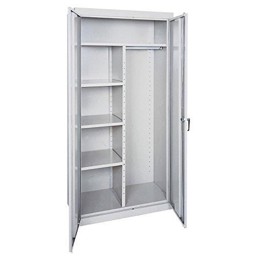 Sandusky Lee CAC1361872-05 Steel Combination Cabinet, 3 Adjustable Side Shelves, 1 Fixed Top Shelf, 180 lb. Load Capacity, 72