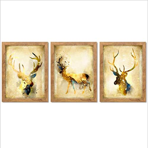 DEED Modern Jane European Animal Planning Bureau, home living room decorative painting, triple combination multiple paintings, wall decoration =,I,3040
