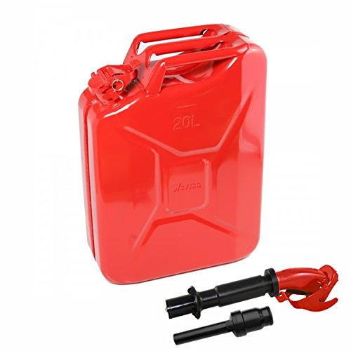20 Liter (Red) Steel Wavian Jerry Can (Spout Included)