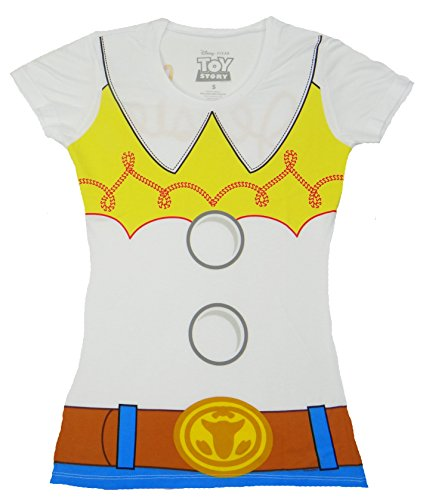 [Disney I am Jessie Toy Story Costume T-shirt (Medium, White)] (Buzz Lightyear Costumes Women)