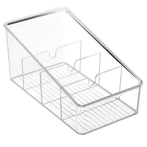 InterDesign Linus Kitchen Organizer Bin For Food Storage, Condiment/Dressing Pouches - Clear 77650