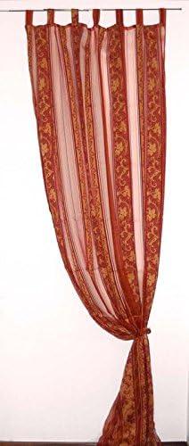 Tenda arredo velo 145 x 280 Pérgola barroco cortinas salón salón Rojo Naranja: Amazon.es: Hogar