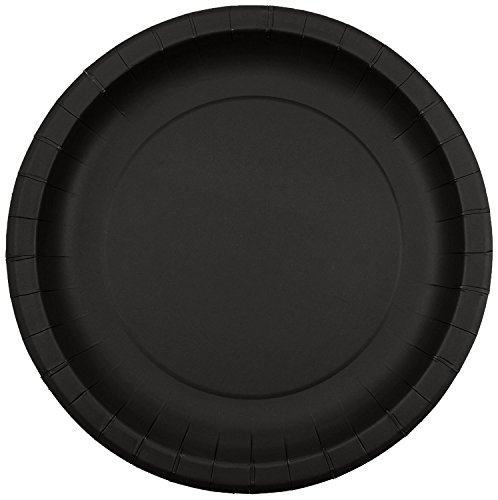 Jubilee 9-inch Paper Plates, 40 Count, Black