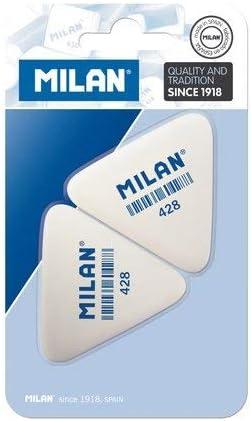 Milan BMM9358 - Pack de 2 gomas de borrar: Amazon.es: Hogar