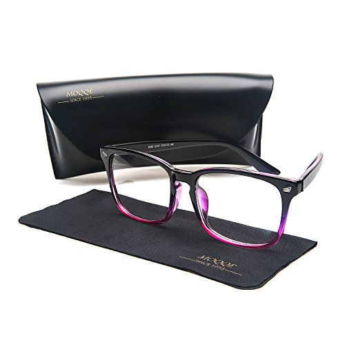 Eyewear Frames Eyeglasses Optical Frame Fashion Clear Lens Glasses For Women&Men(C2)