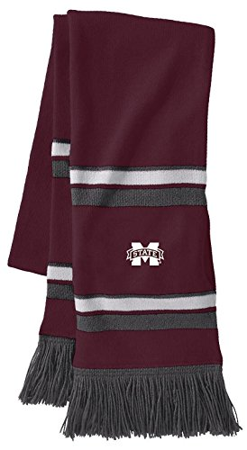 Bulldogs Mississippi College Watches State (Ouray Sportswear NCAA Mississippi State Bulldogs Comeback Scarf, One Size, Maroon/White/Graphite)