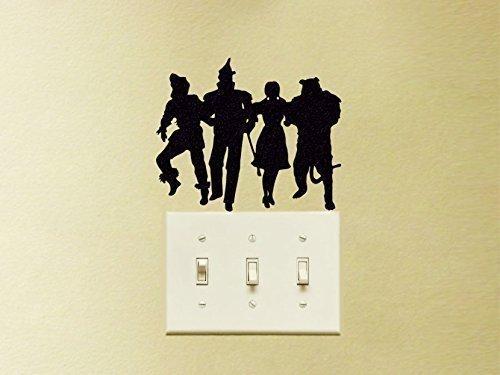 (Wizard of Oz Vinyl Decal Sticker Dorothy, Tin Man, Scarecrow Wall Decor Mac Apple Laptop)