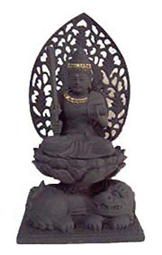 エコステーション備長炭で出来た仏像の置物 十二支守り本尊 千手観音 子 B00OBLO4IS 千手観音