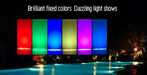 Color-changing LED Pool Light 120V 40W Replacement For Incandescent Bulbs in Pool Light, 16 light shows, Color Memory Remote Control (120VAC, 40Watt) by TOVEENEN (Image #7)