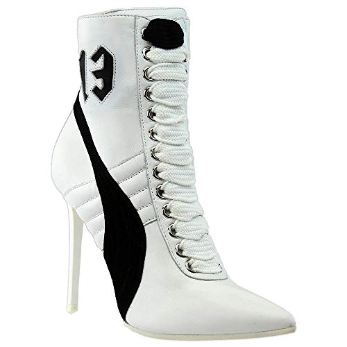 PUMA Women s High Heel Leather Rihanna Puma White Puma Black Puma White  Athletic Shoe - Buy Online in UAE.  ccde3d2ad