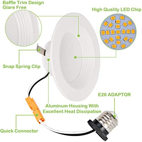 tools, home improvement, electrical, recessed lighting,  housing, trim kits 8 discount Hykolity 12 Pack 4 Inch LED Recessed Light deals