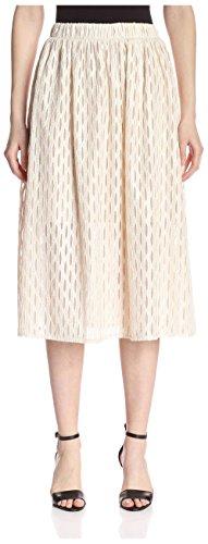 A.B.S. by Allen Schwartz Women's Sheer Midi Skirt, Vintage Vanilla, - Skirt Sheer Vintage