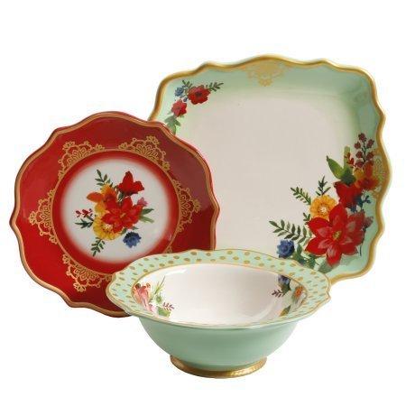 The Pioneer Woman Winter Bouquet 12-Piece Dinnerware Set