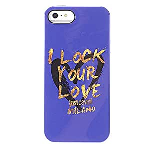 """JJE""""I Lock Your Love"""" Pattern Purple Smooth Anti-shock Case for iPhone 5/5S"""