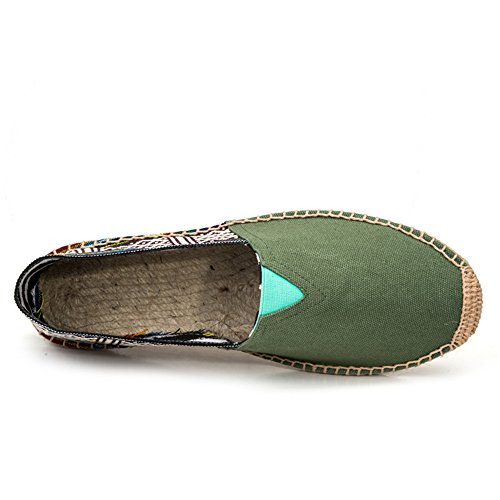 Straw And Espadrilles SHELAIDON Flats Linen Slip Women Loafers on Shoes Men's Canvas nationalgreen Hemp dqgwZYE