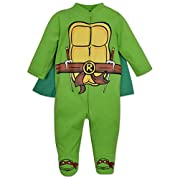 Baby Ninja Turtles Footed Pajamas with Cape (3-6 Months)