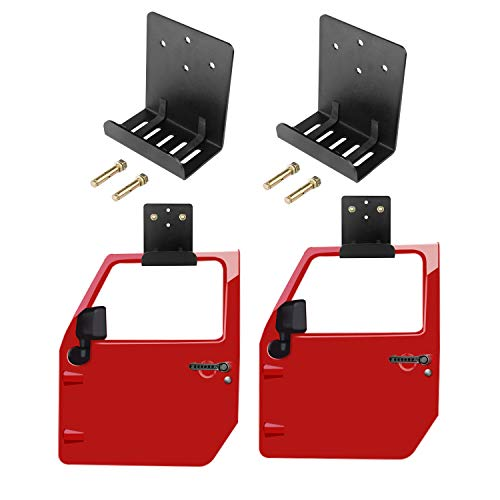 cartaoo Jeep Door Hanger Bracket for JL, JK, TJ, CJ, JKU and YJ, Set of 2 Hangers for Jeep Door - Door Half Seal Tj