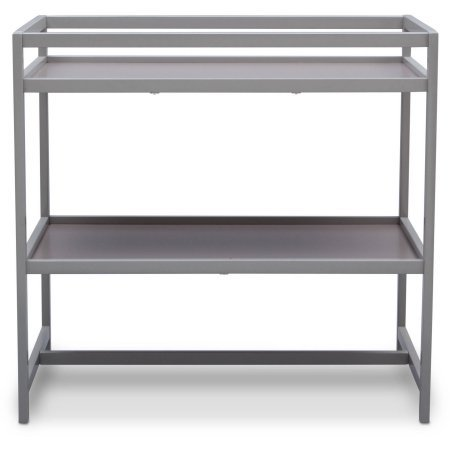 Grey Delta Children Nursery Side Table Designed for Effortless Dressings and Diaper Changes