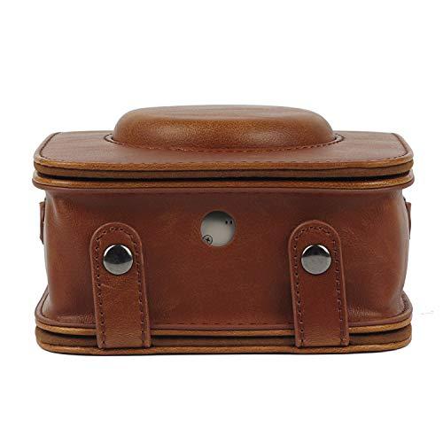 CAIUL Compatible Square SQ20 Case Bag for Fujifilm Instax Square SQ20 SQ10 Instant Film Camera with PU Leather (Brown)