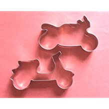 LAWMAN Vehicle motorcycle scooter motorbike fondant pastry baking cookie cutter set