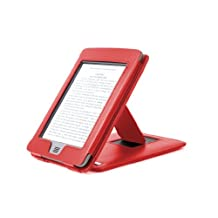 """DURAGADGET Red Genuine Leather Case & Cover With Stand For Amazon's New Kindle Touch, Wi-Fi, 6"""" E Ink Display (Latest Generation, 2011)"""