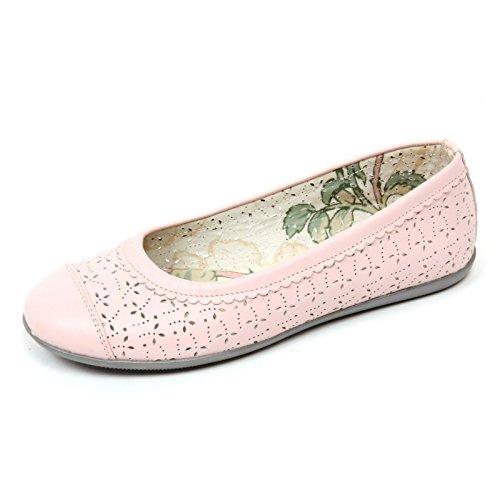 Rosa Bimba C6996 forata Rose Scarpa Ballerina Shoe Monnalisa Kid wTFaPOqvvW