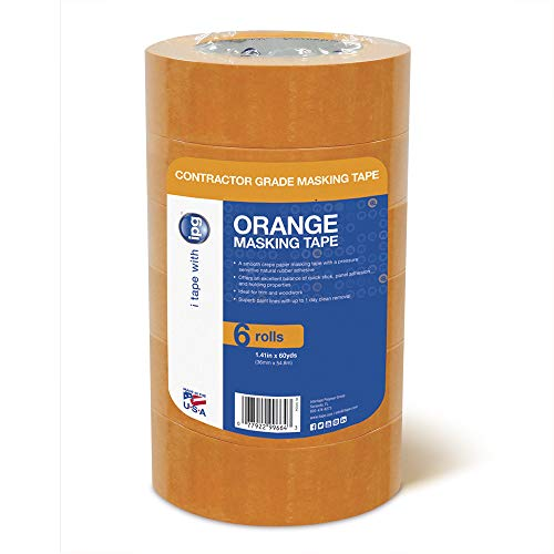 IPG Contractor Grade Orange Masking Tape, 1.41