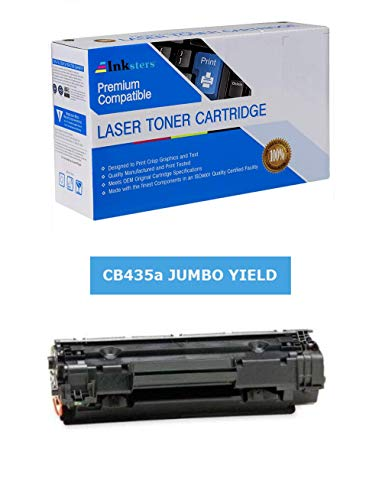 Inksters Compatible Black Toner Cartridge Replacement for HP 35A CB435A(J) Black Jumbo - Compatible with Laserjet P1002 P1003 P1004 P1005 P1006 P1009 - Twice The Yield