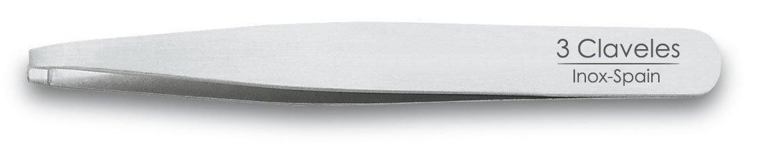 3 Claveles 12260 - Pinza depilar recta 10 cm inoxidable 8410990122606
