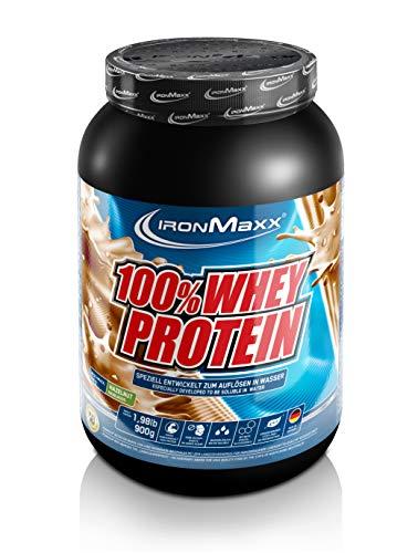 IronMaxx 100% Whey Protein – 900g Dose – 18 Portionen – Haselnuss – Hochwertiges Eiweißpulver für Proteinshake auf…