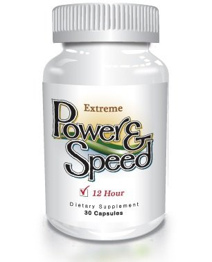 Power N Speed - 30 Capsules - Natural Energy Pills, Brain Boost, Focus and Memory Enhancement Herbal Vitamin Supplement for Men and Women