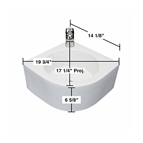 "White Wall-Mount Vessel Sink ""Melinda"" Compact Easy Clean And Install Scratch And Stain Resistant on sale"