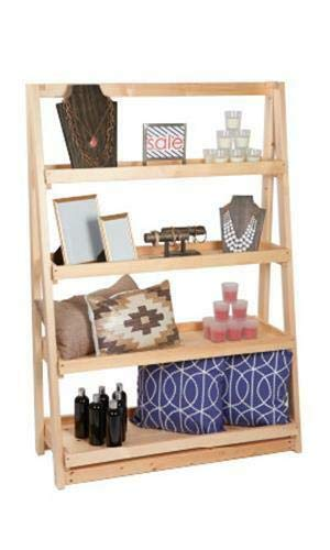 Buy All Store A-Frame Wood Display 4 Tier Shelf 42