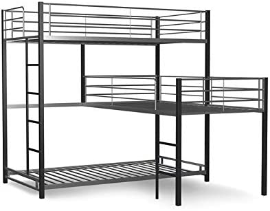 Furniture of America Crossman Metal Triple Twin Bunk Bed