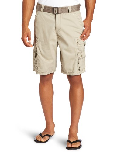 Seven Capri Jeans - Lee Men's Big-Tall Dungarees Belted Wyoming Cargo Short, Khaki, 54
