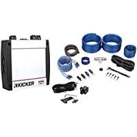 Kicker 40KX4001 KX400.1 400 Watt RMS Compact Mono Class D Car Amplifier+Amp Kit