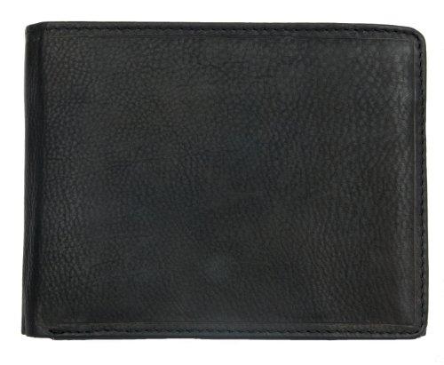 Herren Schwarzes Weiches Leder Portemonnaie - Geldbörse