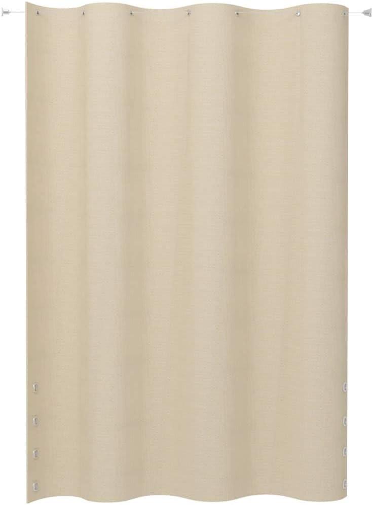 Festnight Toldo Cortina para Balcón PEAD Cortina de Exterior Crema 140x230 cm: Amazon.es: Hogar