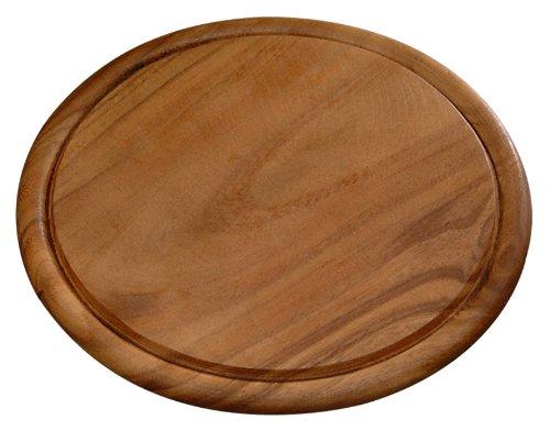 Kesper 20444 Fleischteller, dunkles Akazienholz, Maße: ø 30 cm, Stärke: 1.5 cm
