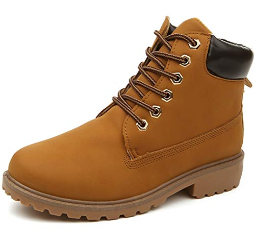 DADAWEN Men's Outdoor Waterproof Lace-Up Ankle Work Boots Ye